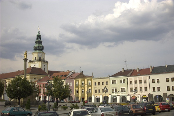 Main Square in Kromeriz, Czech Republic