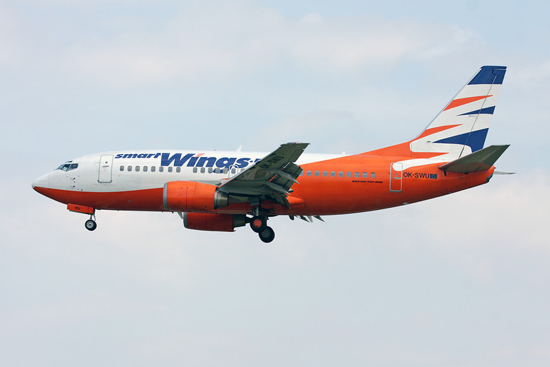 """OK-SWU Boeing 737-522 """"Smart Wings"""" c/n 26703 Brussels/EBBR/BRU 31-05-09"""