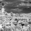 Infrared panorama of Cesky Krumlov