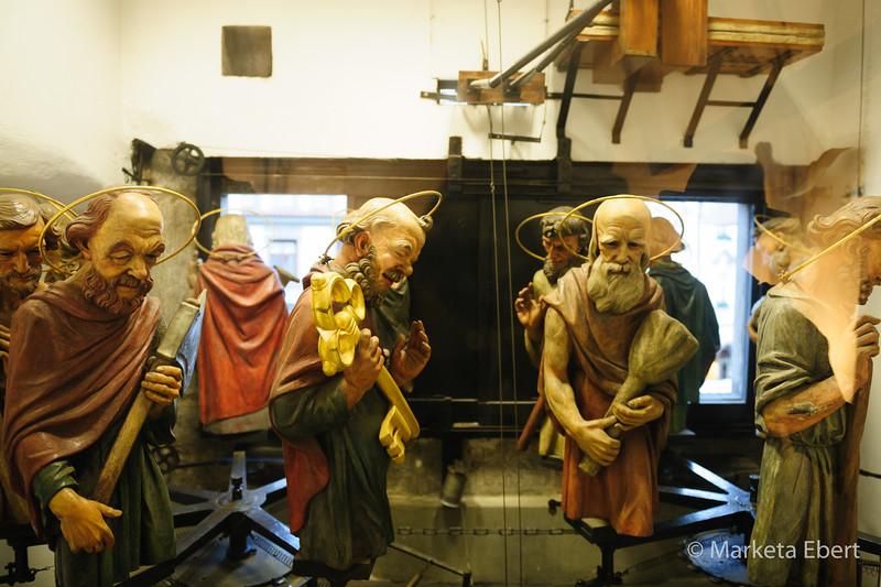 Inside Prague Astronomical Clock