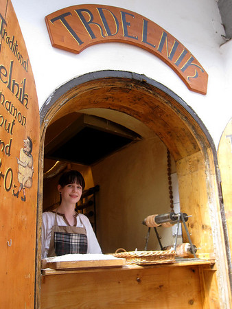 tredlnik stand in cesky krumlov old town