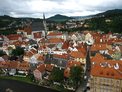 Cesky Krumlov from the Tower