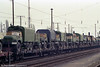 Soviet trucks loaded up ready to leave the former DDR near Leipzig in April 1991.