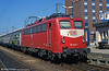 Also at Freiburg, a DB class 110 with a 'Kasten' body, no. 110-244. 181 of these were built from 1956.