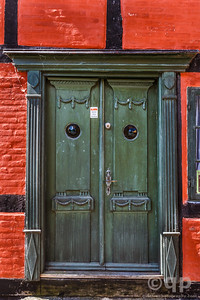GREEN ORNATE DOOR