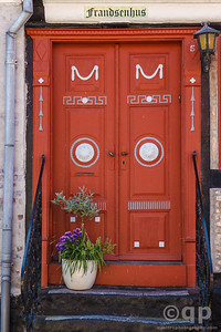 RED ORNATE DOOR