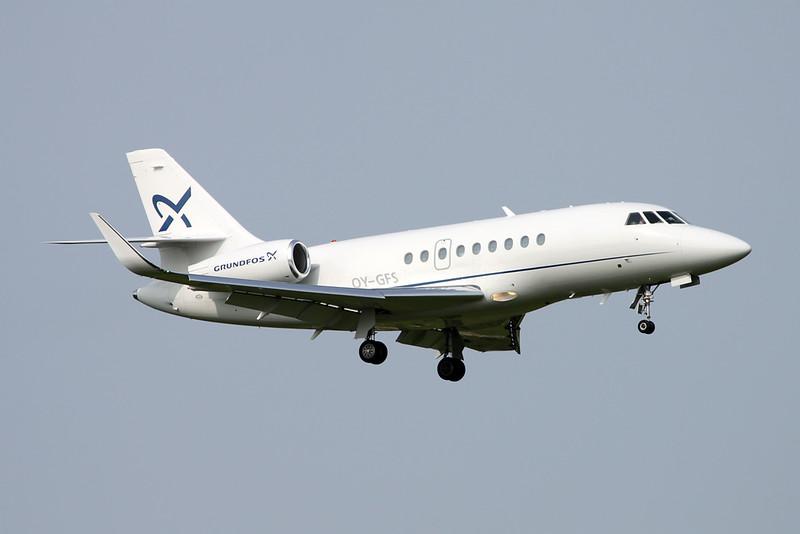 OY-GFS Dassault Falcon 2000LX c/n 314 Zurich/LSZH/ZRH 08-09-17