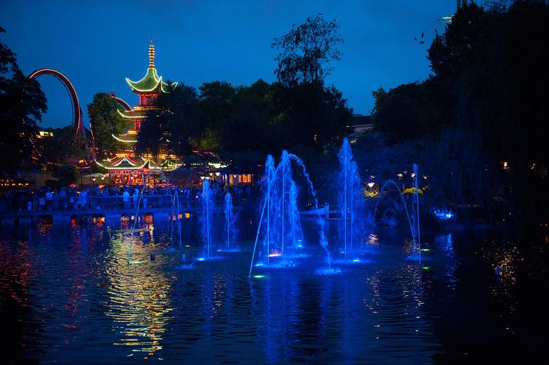 Laser light show, Tivoli Gardens