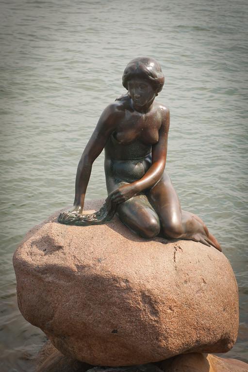 The little mermaid  in the harbor, Copenhagen