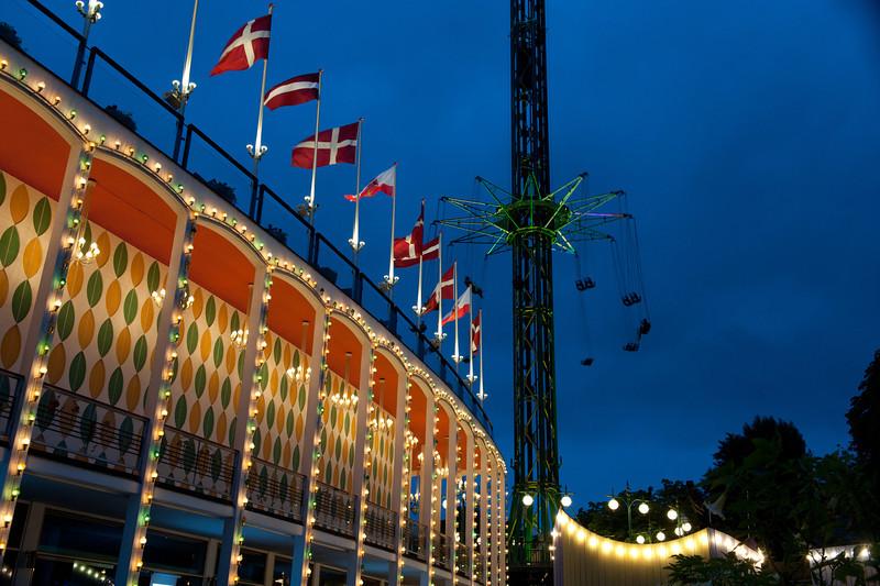 Dusk at Tivoli Gardens, Copenhagen