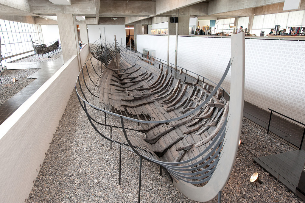 1000 year old Viking ship Viking Ship Museum (Vikingeskibshallen), Roskilde, Denmark