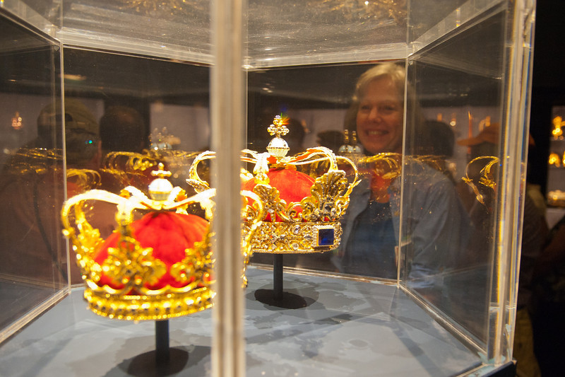 Royal crowns at the Treasury, Rosenborg Castle, Copenhagen