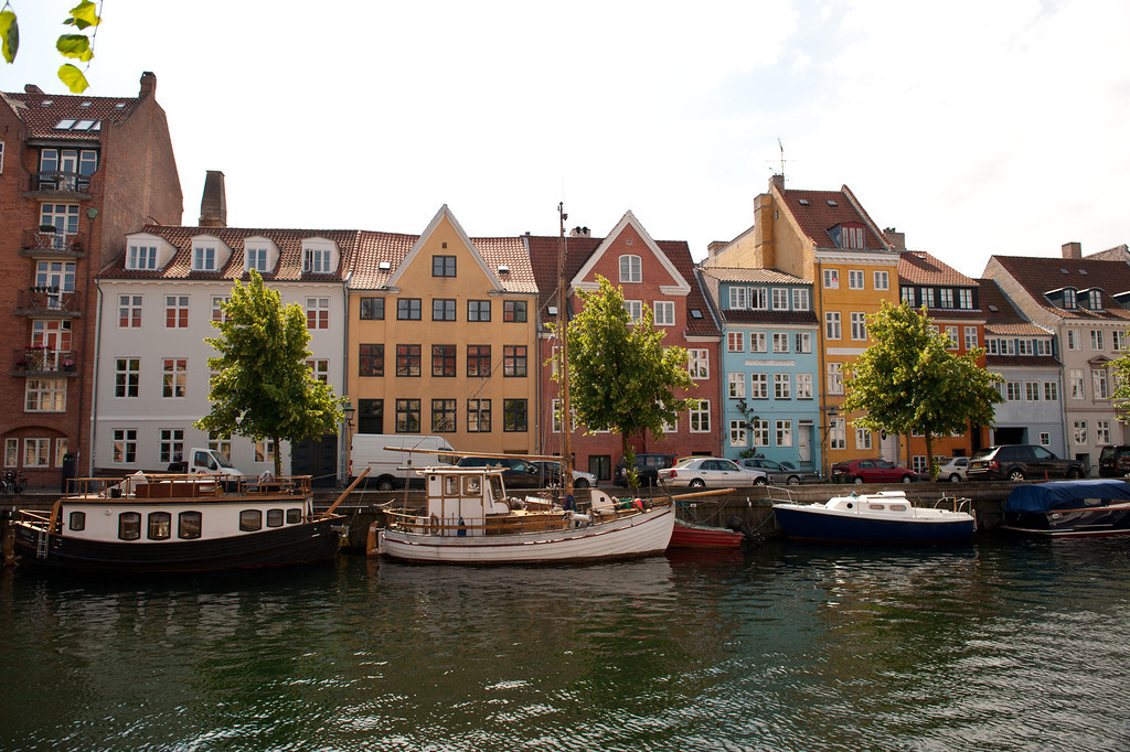 Typical waterfront buildings, Copenhagen, Denmark