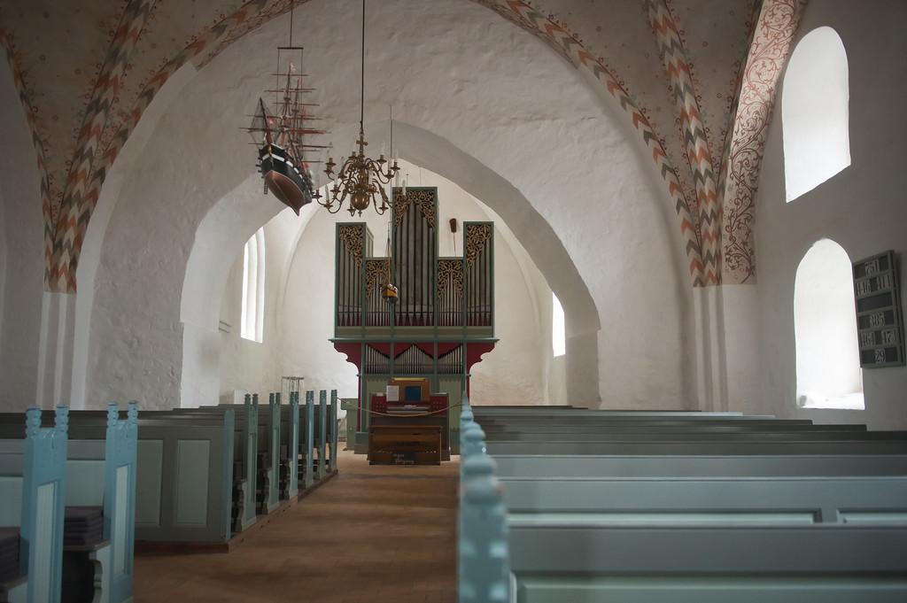 Altar from 1528, Bregninge Church, circa 12th century, Aero Island