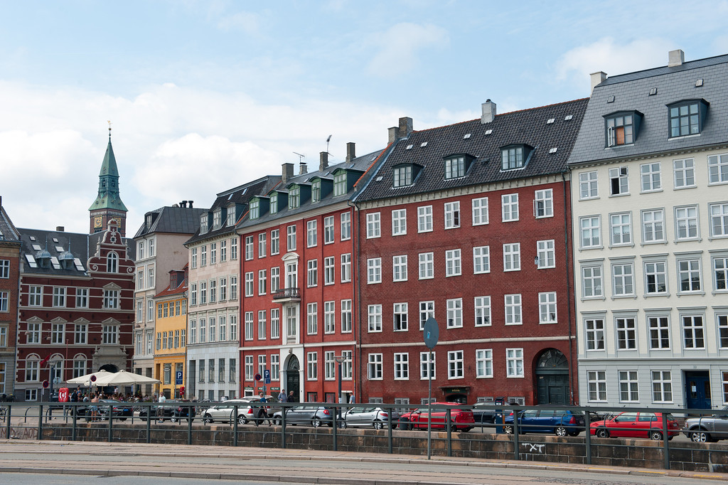 Typical canal side building, Copenhagen, Denmark