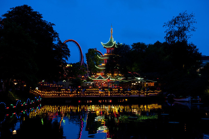 Evening lights, Tivoli Gardens, Copenhagen
