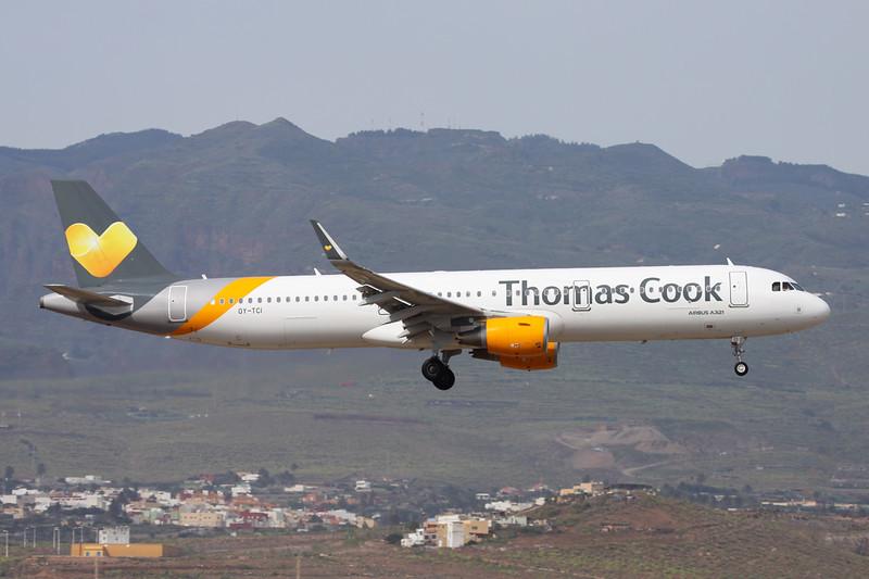 "OY-TCI Airbus A321-211 ""Thomas Cook Scandinavia"" c/n 6468 Las Palmas/GCLP/LPA 04-02-16"
