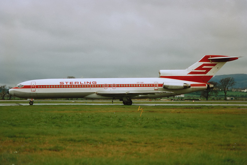 "OYSBI Boeing 727-270 ""Sterling European Airlines"" c/n 23052 Glasgow/EGPF/GLA 18-04-93 (10x15 print)"
