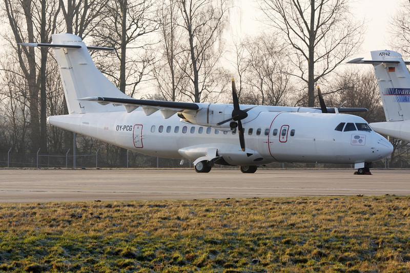 """OY-PCG Aerospatiale ATR-42-300 """"Nordic Aviation Capital"""" c/n 80 Moenchengladbach/EDLN/MGL 30-01-09"""