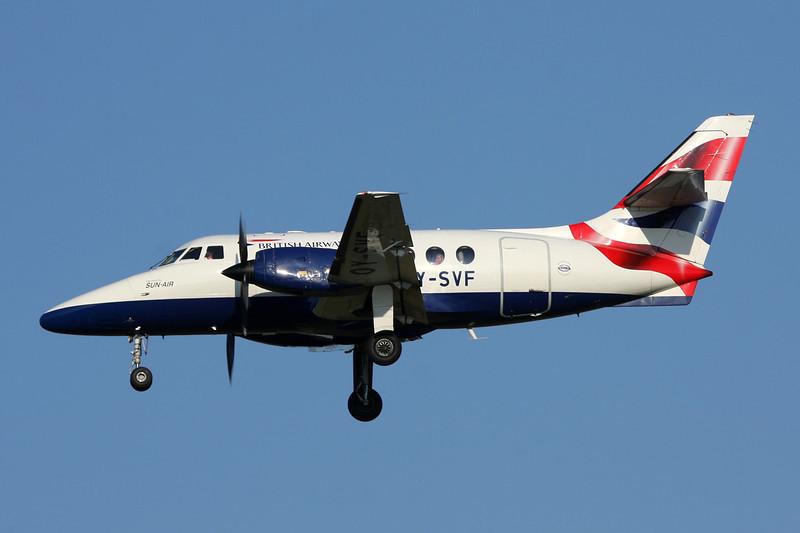 """OY-SVF British Aerospace Jetstream 31 01 """"Sun Air"""" c/n 686 Brussels/EBBR/BRU 07-07-13"""