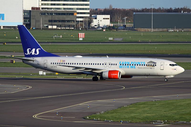 "LN-RPM Boeing 737-883 c/n 30195 Amsterdam/EHAM/AMS 24-03-14 ""Eurobonus"""