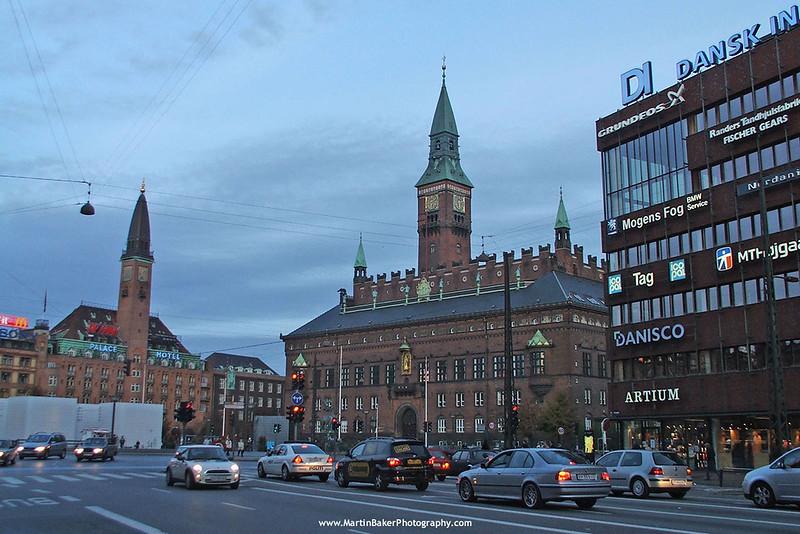 Rådhuspladsen, Copenhagen, Denmark.