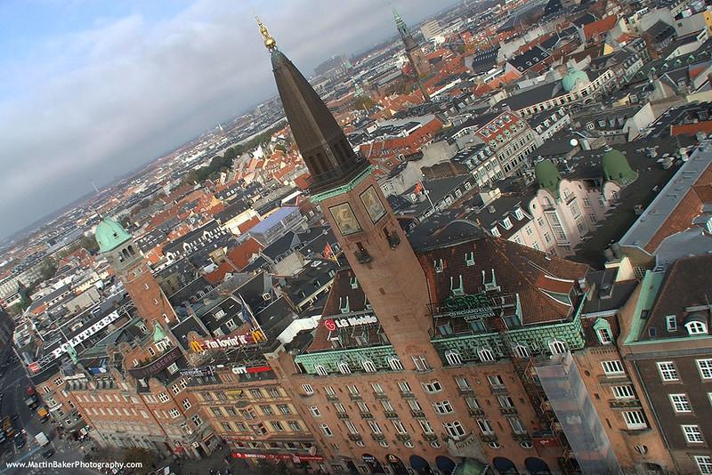 City Hall (view from), Copenhagen, Denmark.