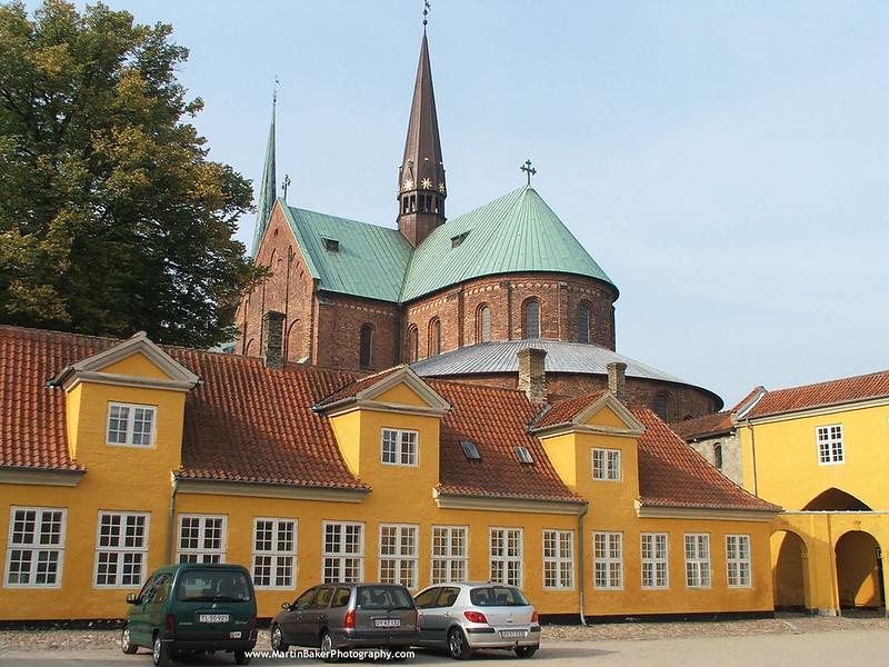 Roskilde Royal Mansion and Domkirke, Roskilde, Zealand, Denmark.
