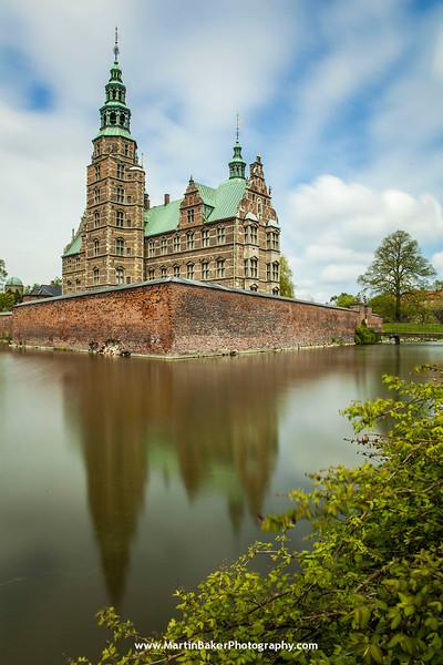 Rosenborg Slot (Castle), Kongens Have (Royal Gardens), Copenhagen, Denmark.