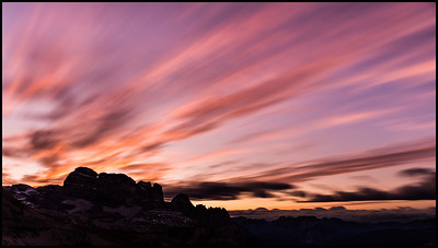 Sunrise from from Rifugio Auronzo