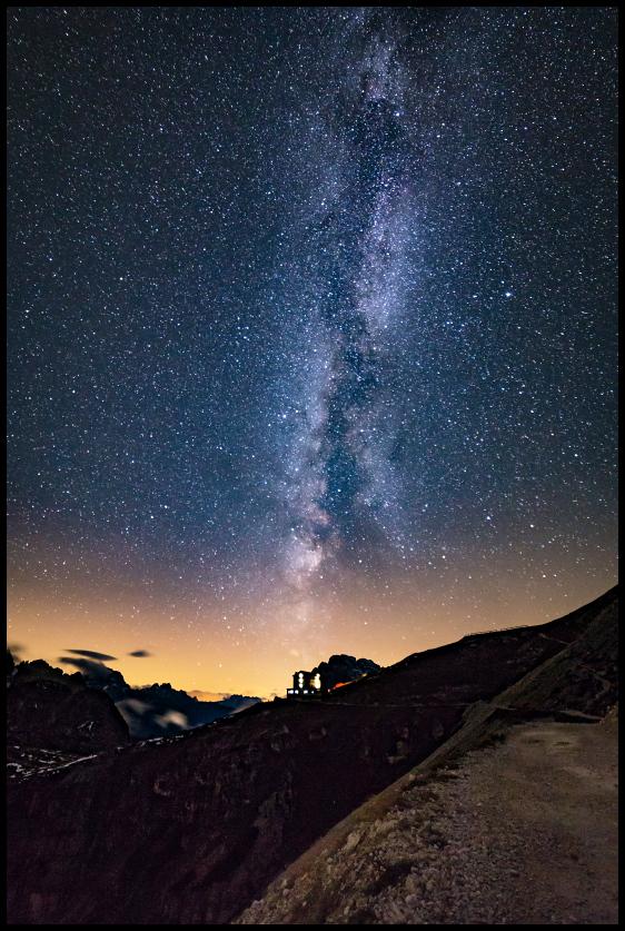 Milky Way over Rifugio Auronzo