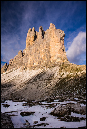 South face of Tre Cime