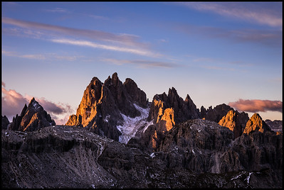 First light on the Cadini di Misurina