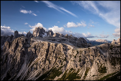 View of the Cadini di Misurina from the Tre Cime di Lavaredo loop