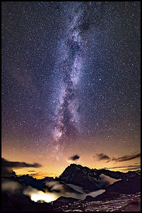 Milky Way from Rifugio Auronzo