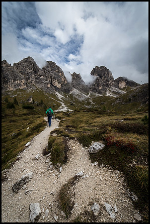 On the Cadini di Misurina trail