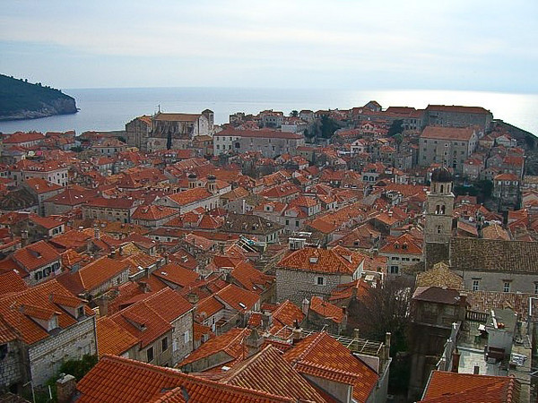 The beautiful red-tiled rooftops of Dubrovnik