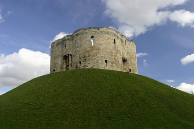 Clifford's Tower built between 1245 and 1262