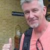 Dave at King's Cross Station - Harry Potter's Platform 9 3/4