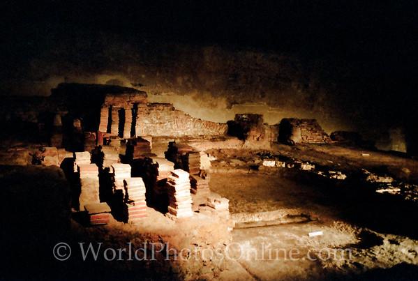 Bath - Roman Baths - Hypocausts in Tepidarium