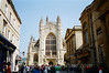 Bath - Bath Cathedral & Roman Bath Entrance on Right