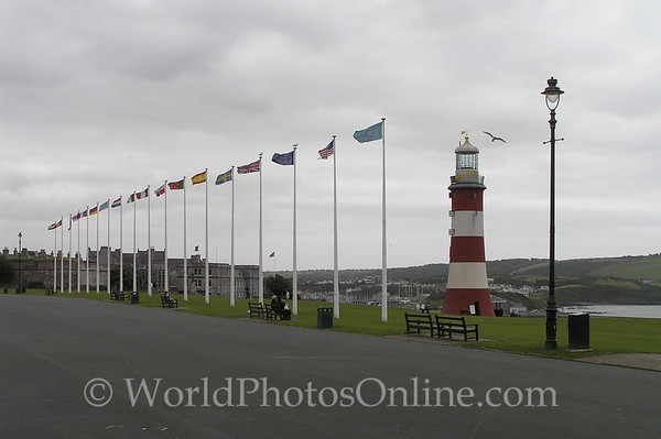 Plymouth - Lighthouse on the Hoe
