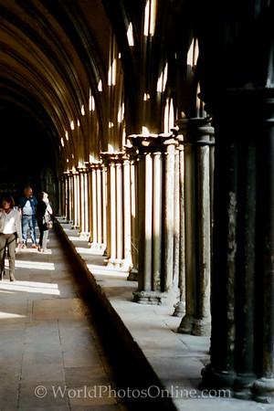 Salisbury - Salisbury Cathedral - Open Hallway by Cloisters