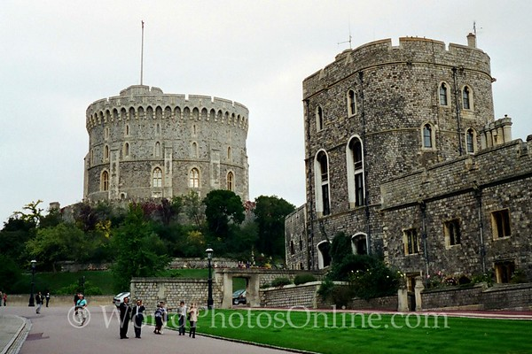 Windsor - Windsor Castle - Round Tower from Lower Ward