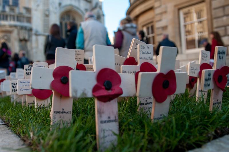 Memorial outside Bath Abbey in Bath, England