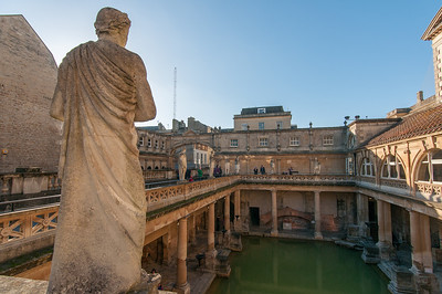 Roman Baths in Bath, Somerset, England