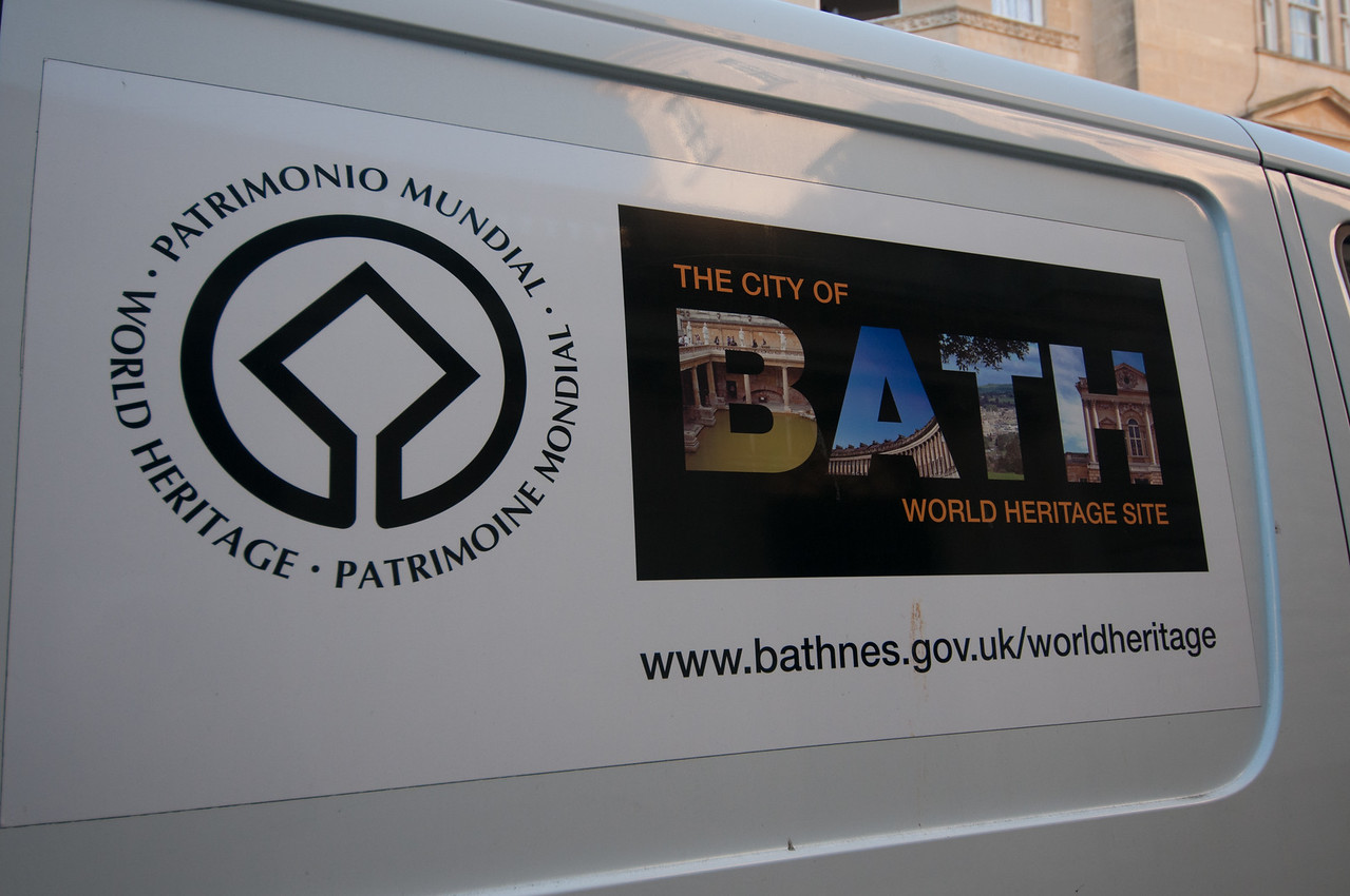 UNESCO World Heritage Sign in Bath, England