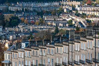 City skyline in Bath, England