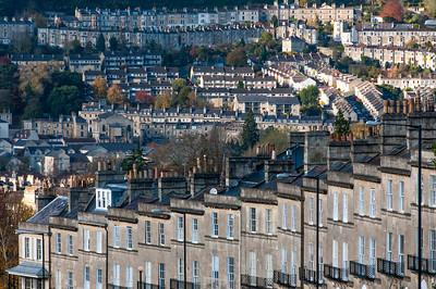 City skyline in Bath, England