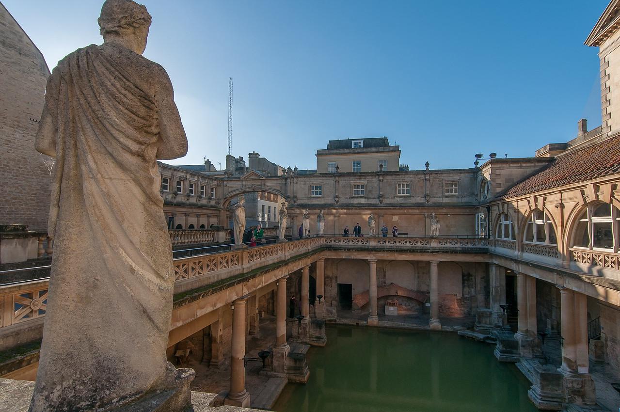 View of the Roman Baths in Bath, England